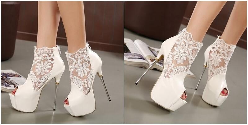 احذية الكعب العالي الرفيع