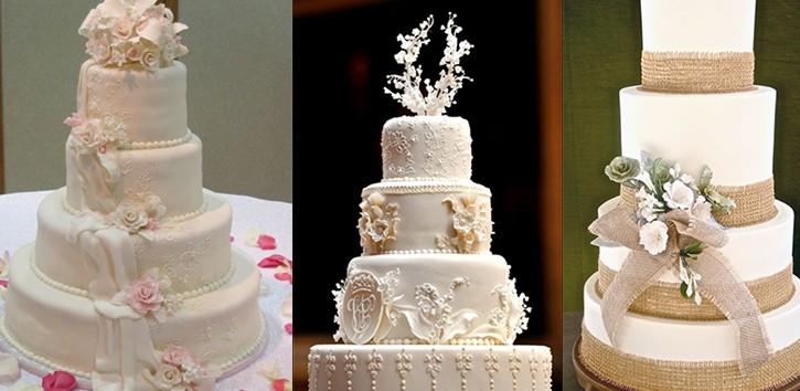 اجمل أشكال كيكات الزفاف
