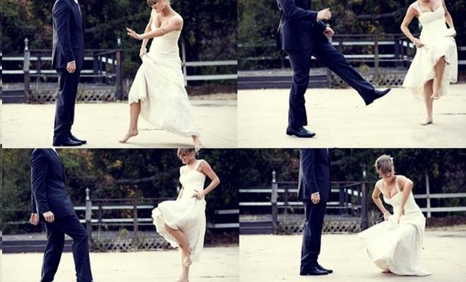 الرقصة الاولى أثناء دخول القاعة