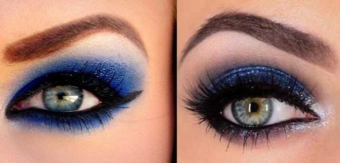 كيفية وضع ظل العيون الازرق