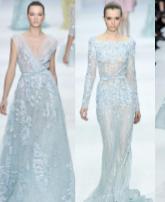 فستان الزفاف الأزرق لإطلالة ساحرة