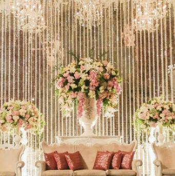 استخدامات الازهار في حفلات الزفاف