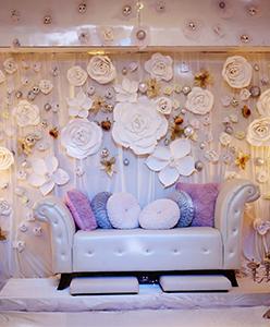 اجمل استخدامات الازهار في حفل الزفاف