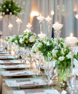 اختاري أضواء زفافك حسب مكان الحفل