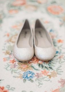 احذية زفاف بدون كعب فلات