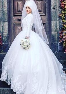 فساتين زفاف للمحجبات 2017