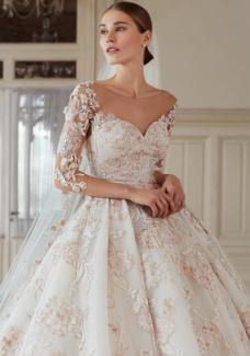 605225ce265e5 صور فساتين زفاف 2019 16 صورة مشاهدة  فساتين زفاف تركى 2018