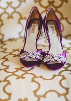 اجمل احذية زفاف ملونة